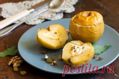 Печеные яблоки с творогом в духовке рецепт с фото пошагово - 1000.menu
