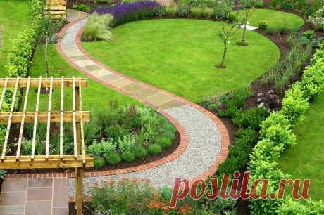 Планируем сад и его форму заранее: всё про садовые дорожки — Roomble.com