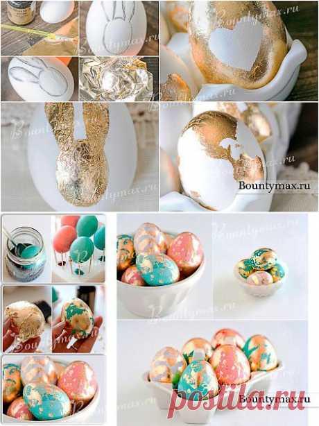 Поталь - отличный помощник в украшении яиц