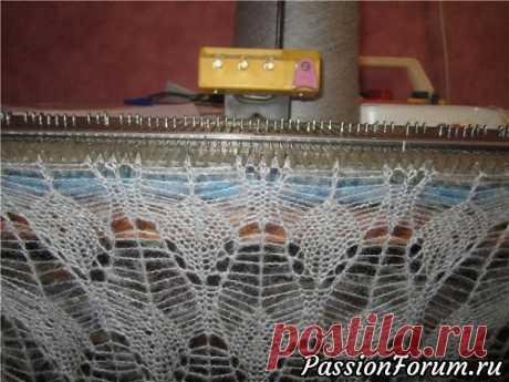 Ажурный узор для ручной вязальной машины «Нева – 5»