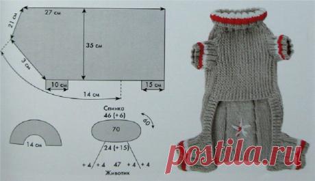 Вязание для собак схемы. Схемы вязания для маленьких собак. Как связать собаке свитер для начинающих, схема с описанием. Подробное описание вязания для собак, свитер, комбинезон, костюм, шапка, спицами, крючком. Схемы вязания для собак