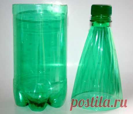Как закруглить края пластиковой бутылки
