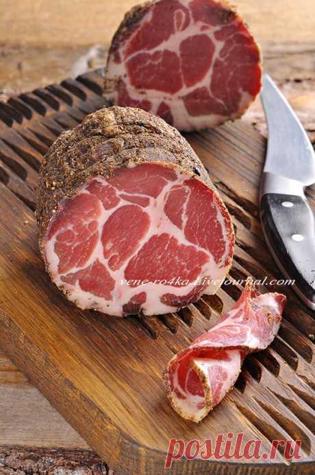 Dry-cured pork neck. - Tasty pause