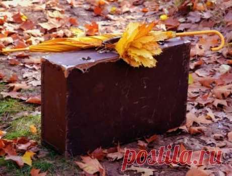 Останній день поклавши в чемодан, прощалась осінь тихо з нами ...