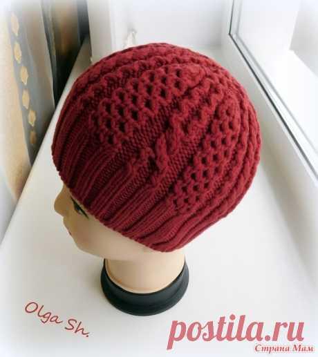 "Шапочка ""Модница"" (Woman of Fashion Hat) + описание - Вязание - Страна Мам"