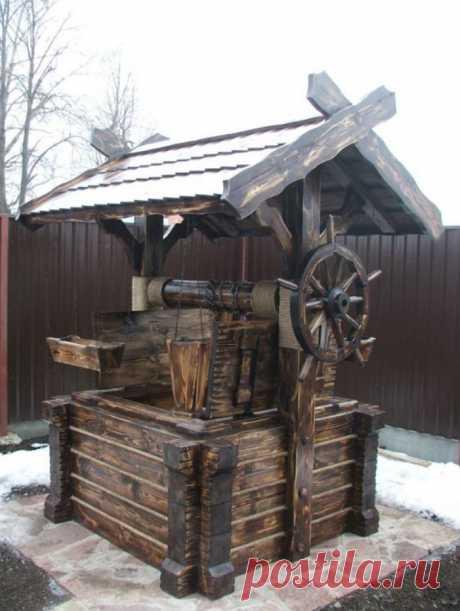 Домик для колодца с обжигом