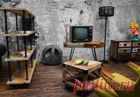 В 40-е годы ХХ века в США стал очень востребован индустриальный стиль оформления своего жилища.