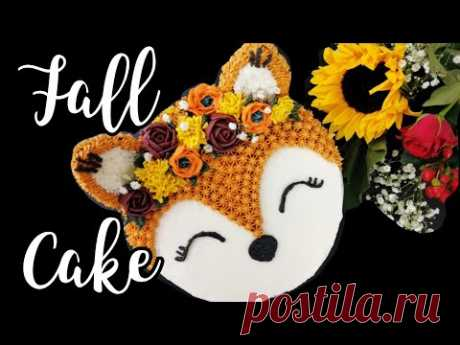 Autumn/Fall Cake Tutorial   Woodland Creatures Cake   Fox Cake Tutorial  Buttercream Cake Tutorial