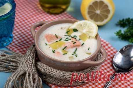 Сливочный суп с лососем и картофелем — Мегаздоров