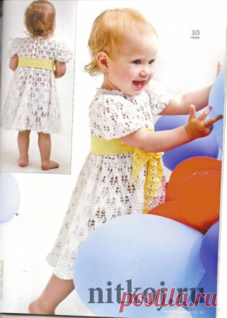 Платье девочке крючком 2 года » Ниткой - вязаные вещи для вашего дома, вязание крючком, вязание спицами, схемы вязания