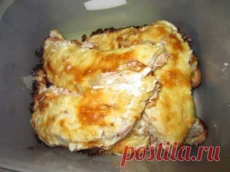 Филе форели в сырном соусе, приготовленное в духовке Объедение!