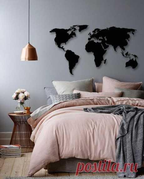 Спальня в серо-розовых тонах: 25 свежих фото ~ ALL-DEKOR
