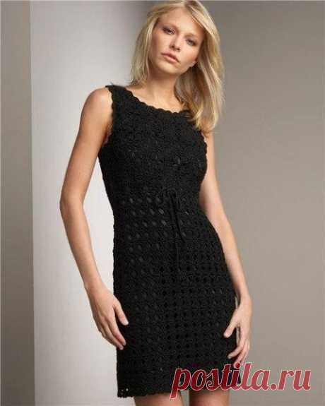 Вечернее платье, связанное крючком из категории Интересные идеи – Вязаные идеи, идеи для вязания