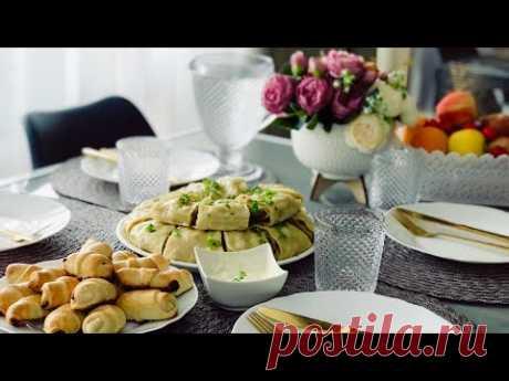 СУПЕР ВКУСНЫЙ ХАНУМА🔥✨ РОГАЛИКИ С НУТЕЛЛОЙ ✨ сервировка стола ✨ сытный и вкусный ужин/обед