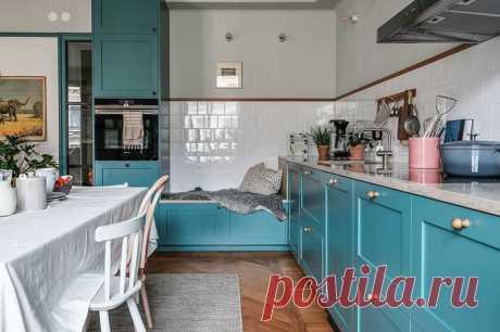 Необычная скандинавская квартира в зеленых тонах - Дизайн интерьеров | Идеи вашего дома | Lodgers