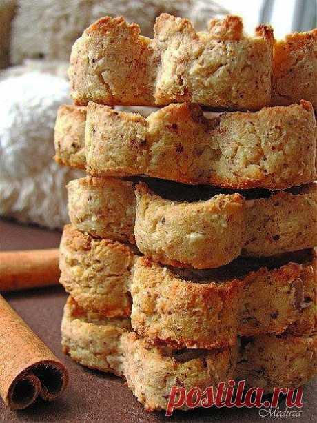 Печенье творожное с овсяными хлопьями..