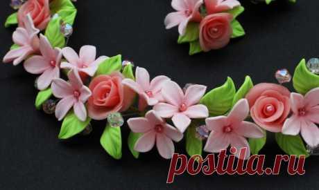 Цветы из полимерной глины - пошаговая инструкция для начинающих с фото