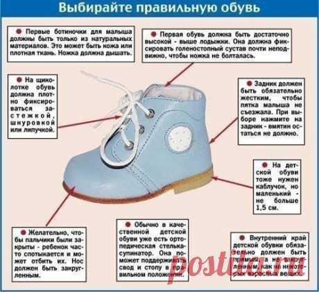 КАК ПРАВИЛЬНО ВЫБИРАТЬ ОБУВЬ РЕБЕНКУ. ПАМЯТКА.  Вы знаете, что выбирая обувь себе или ребенку, не достаточно знать ее размер. Обувь надо обязательно примерить. Взрослый человек ориентируется на свои тактильные ощущения и жизненный опыт. C детьми же дело обстоит гораздо сложнее. Нет смысла спрашивать у малыша: «Не жмет ли ботиночек?». У него еще мало опыта в ношении обуви, и он пока не знает, что значит «жмет» или «не жмет».  К тому же, жировой слой, который есть на детской...