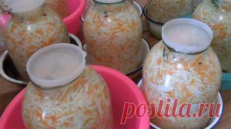 Только для Вас, дорогие мои, самый вкусный, хрустящий и сочный рецепт квашеной капусты - Как приготовить вкусно