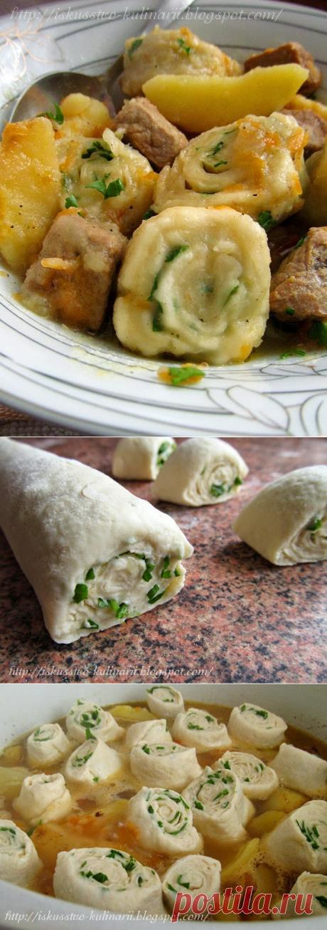 Постигая искусство кулинарии... : Украинские нудли с картофелем и мясом