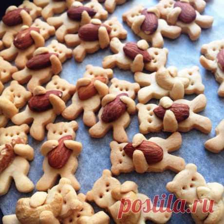 """Такое милое печенье """"мишка, обнимающий орешек""""! - МирТесен"""
