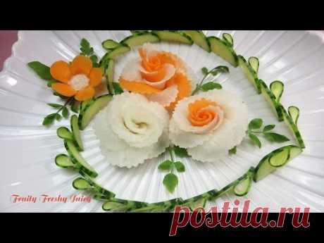 Искусство в дизайне редиса и моркови - лучший растительный цветок