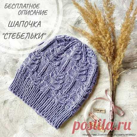 Описание шапочки СТЕБЕЛЬКИ связанной спицами, Вязание для женщин
