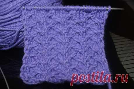 Очень необычная «Плетеночка» – простой узор для вязания спицами | Вязание life. Схемы и узоры | Яндекс Дзен