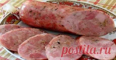 Рецепт вкусной колбасы домашнего приготовления. Лучше любой магазинной ...