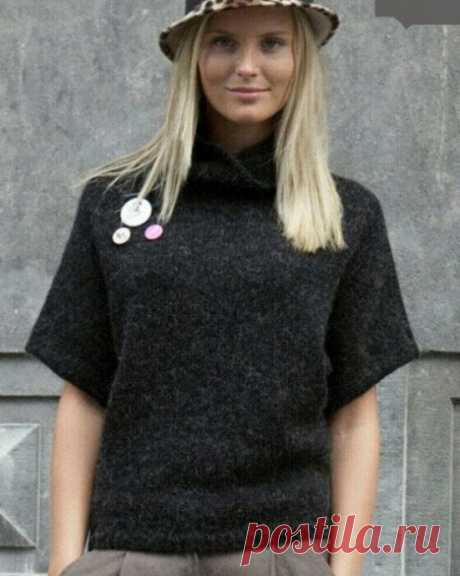 Пуловер оверсайз, вяжем спицами
