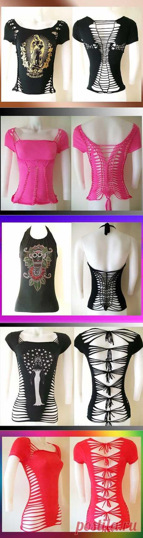 Прорезные футболки (трафик) / Прорези / Модный сайт о стильной переделке одежды и интерьера