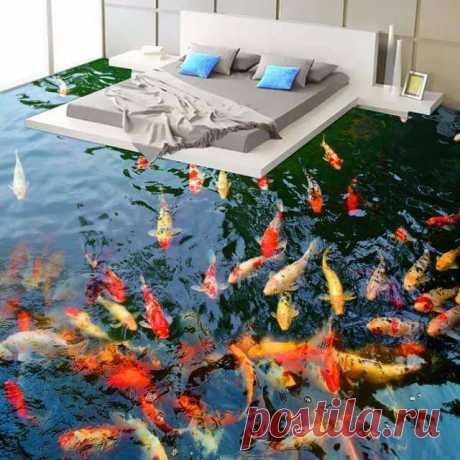 Наливные 3d полы в интерьере: 26 фото идей ~ ALL-DEKOR.RU