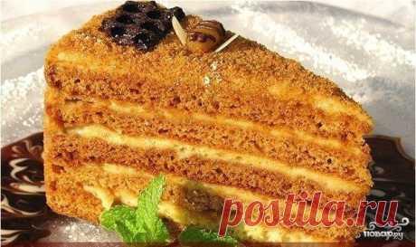 Медовый торт на скорую руку - пошаговый кулинарный рецепт с фото на Повар.ру