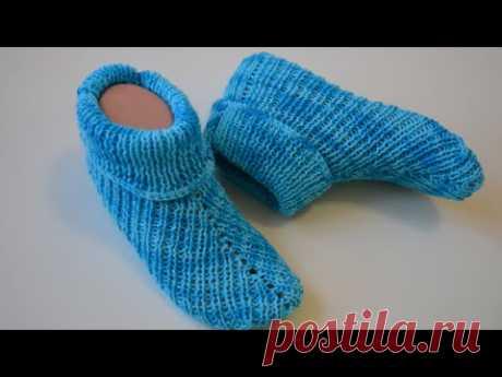 Носки на двух спицах без швов