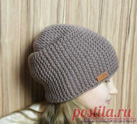 Cap - a bin\u000d\u000a\u000d\u000aCap-bini size: on a circle of the head of 56-58 cm, height of a hat is 28 cm.\u000d\u000aFor knitting of a cap it will be required: yarn of Nako Arctic No. 6070 (100g\/100m), spokes No. 5,5. Exactly 1 hank is spent for a cap.\u000d\u000a\u000d\u000aDescription of a knitted cap-bini:\u000d\u000aOn spokes No. 5,5 we gather 36 loops and we knit 2 rows platochny knitting (all loops front), we do not forget that the first and last loops we knit edging, i.e. always we remove the first loop not provyazyvy, and the last always we knit back.\u000d\u000aFurther we knit uko...