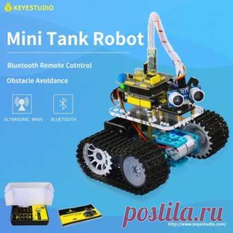 4729.63 руб.  Keyestudio DIY Мини Танк умный робот автомобильный комплект для Arduino робот образование Программирование + Руководство PDF (онлайн) 5 проектов купить на AliExpress Покупай умнее, живи веселее! Aliexpress.com