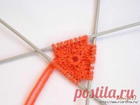 Set of loops for circular knitting on spokes (Lessons and MK of KNITTING) | the Inspiration of the Needlewoman Magazine