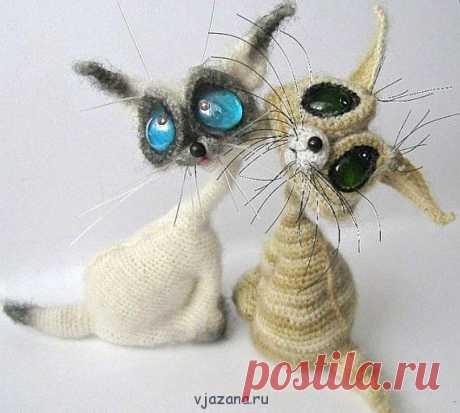 Прикольные котята крючком | Вязана.ru