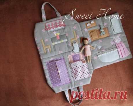 Очаровательная сумочка для девочки «Кукольный ломик» — HandMade