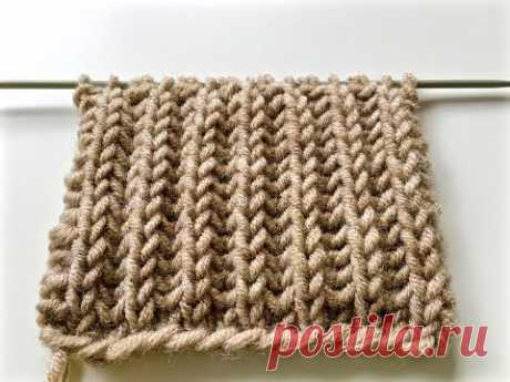knitting patterns BRIOCHE STITCH\/le point de tricot côte anglaise\/knitting English elastic band