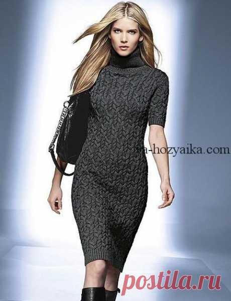 Платье-футляр спицами схемы. вязаное платье спицами на осень