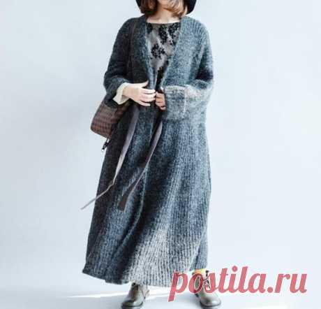 Women long coat Dark gray sweater coat Waist tie long   Etsy 【Fabric】 cotton, wool blend 【Color】 Dark gray, coffee 【Size】 Shoulder width 58cm/ 23 Sleeve length 41cm/ 16 Bust 120cm / 47 Cuff circumference 28cm/ 11 Length 113cm/ 44    Have any questions please contact me and I will be happy to help you.