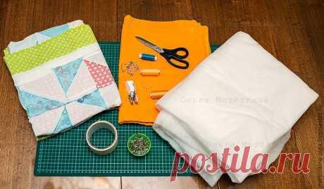 Шьем детское лоскутное одеяло для начинающих. Часть 3. Сборка одеяла | Журнал Ярмарки Мастеров