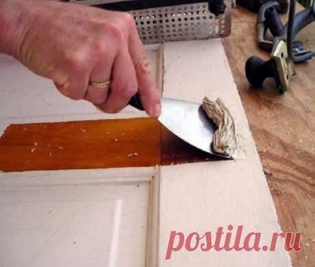Лучший способ быстро снять старую краску с дерева