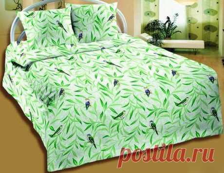 Купить в интернет-магазине Постельное белье Птицы зеленые (бязь) за 1257руб.