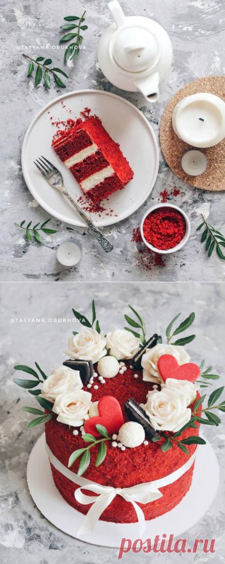Рецепт торта «Красный бархат» | HomeBaked