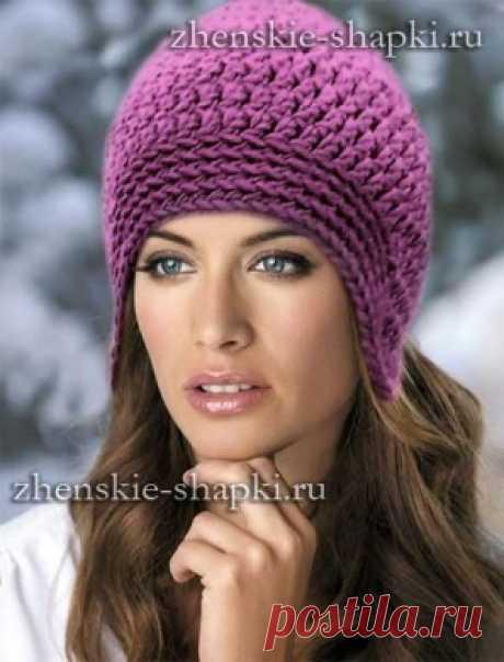 Как связать шапку спицами для женщин модные модели 2017