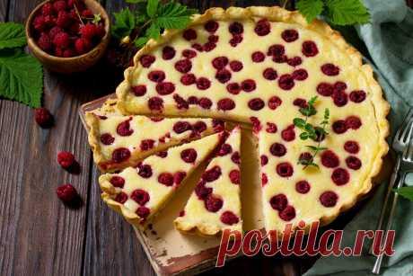Вишневый пирог на тесте из творога без яиц и сливочного масла - Журнал для женщин
