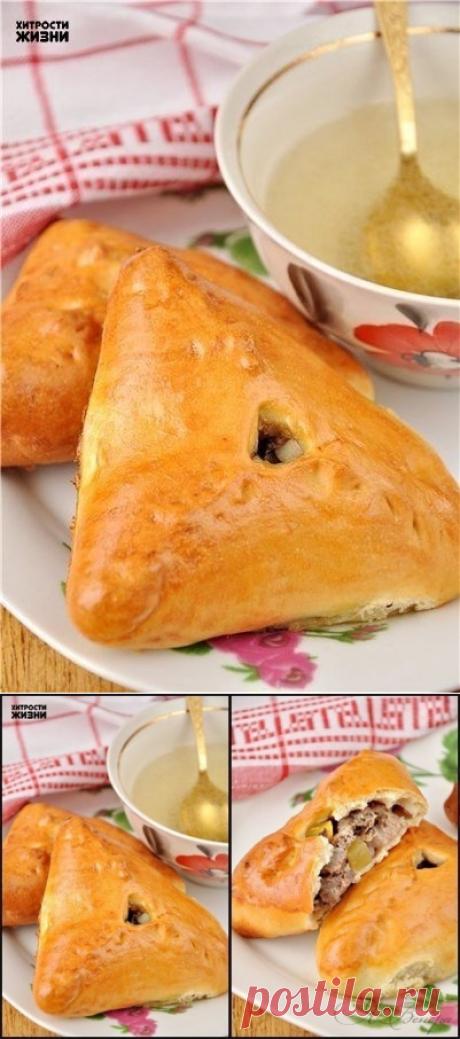Как приготовить как приготовить эчпочмак (треугольные пироги с картошкой и мясом) - рецепт, ингридиенты и фотографии