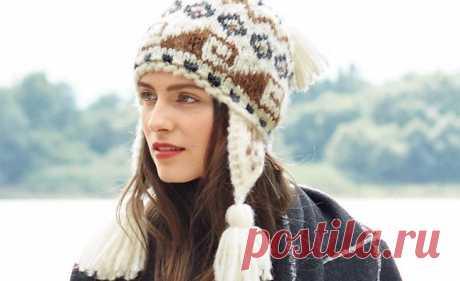 Схемы вязания шапок спицами с описанием - Verena.ru